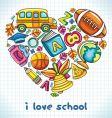 school heart vector image vector image