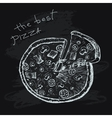 The best pizza vector image
