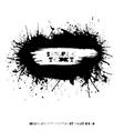 Grunge splatter card vector image