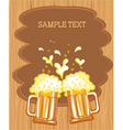 beer fest background vector image vector image