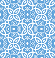 Seamless blue and white damask pattern vector image