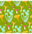 Spring forest chanterelle and grebes mushroom vector image