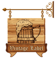 Beer sign vector image