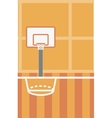 Background of basketball court vector image