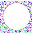 childish happy confetti colorful background white vector image