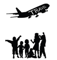 children with travel vector image