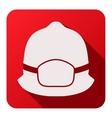 Flat icons of fireman helmet vector image