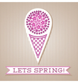 Motivation List Design With Floral Ice Cream vector image