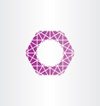 purple hexagon polygon frame vector image