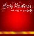 red christmas board with ribbon vector image