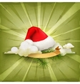 Santa Claus hat old style background vector image