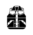 Waistcoat sketch icon isolated on backgroun vector image