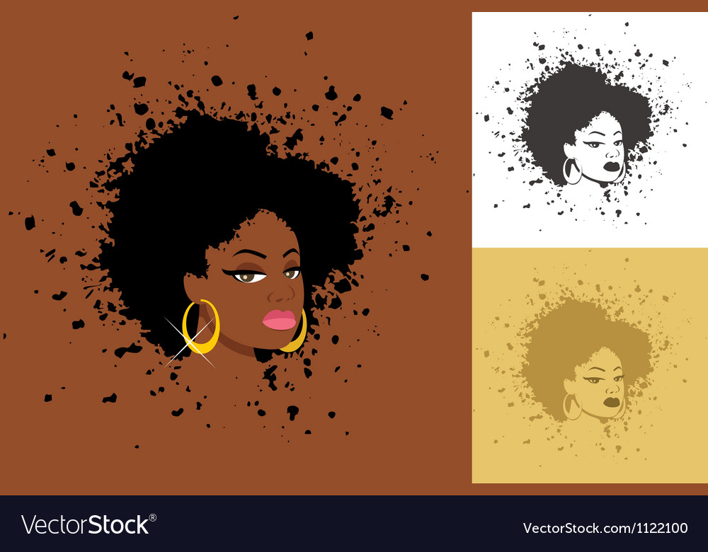Afro vector