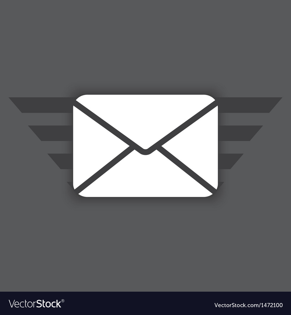 Icon of envelope vector