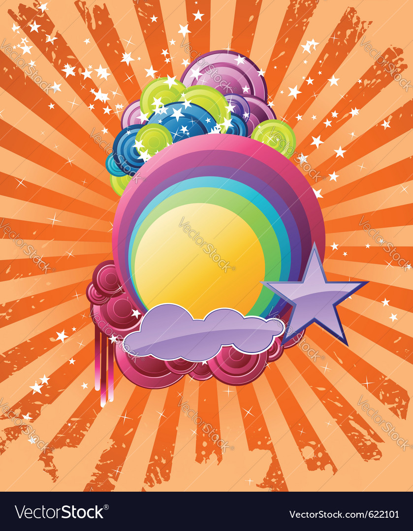 Discotheque rainbow vector