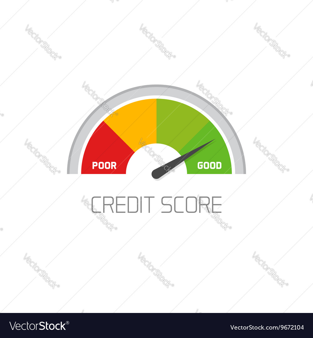 Credit score scale showing good value icon vector