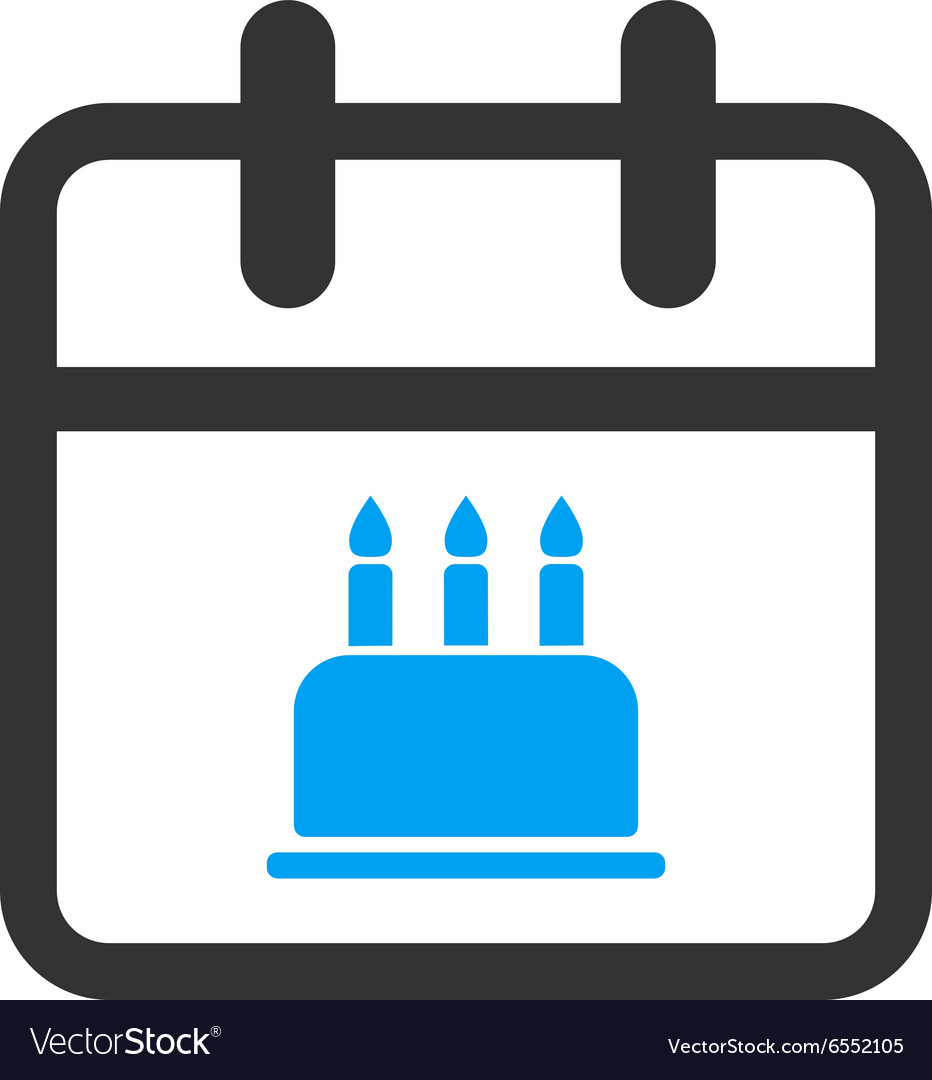 Birthday flat icon vector