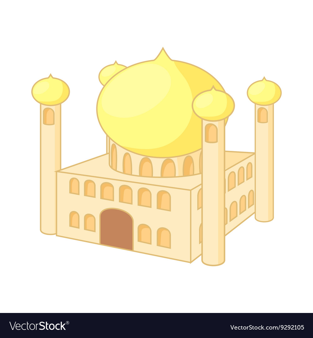 Jumeirah mosque dubai icon cartoon style vector