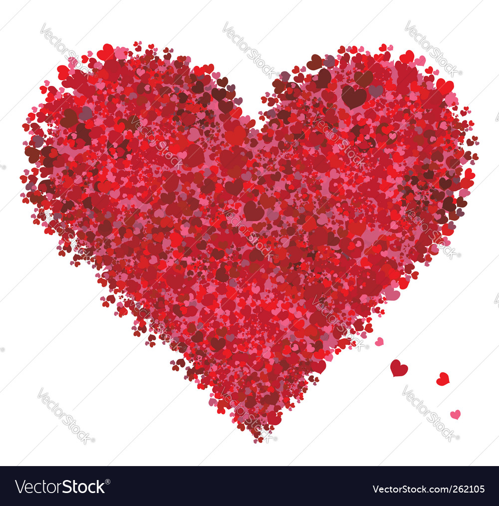 Valentine heart shape love vector