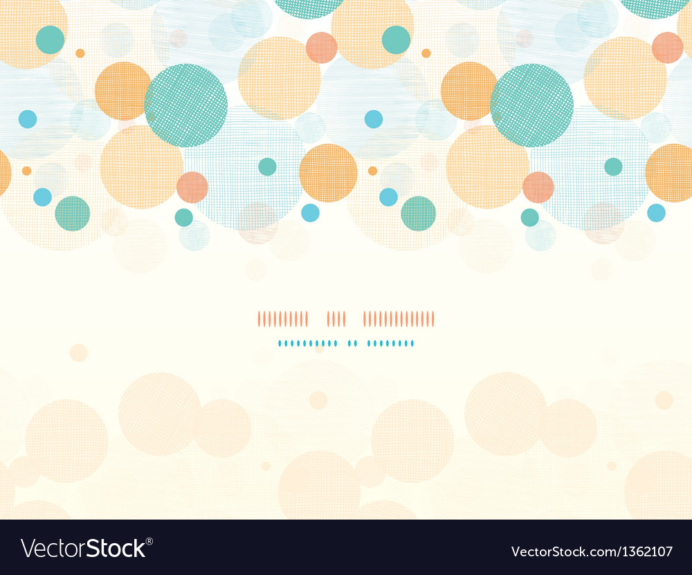 Fabric circles abstract horizontal seamless vector