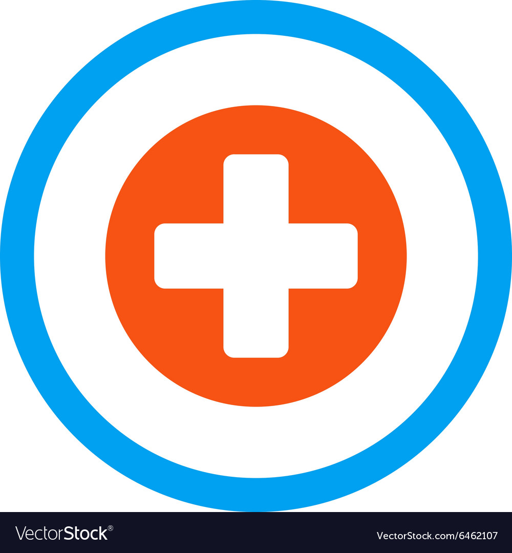 Medicine rounded icon vector