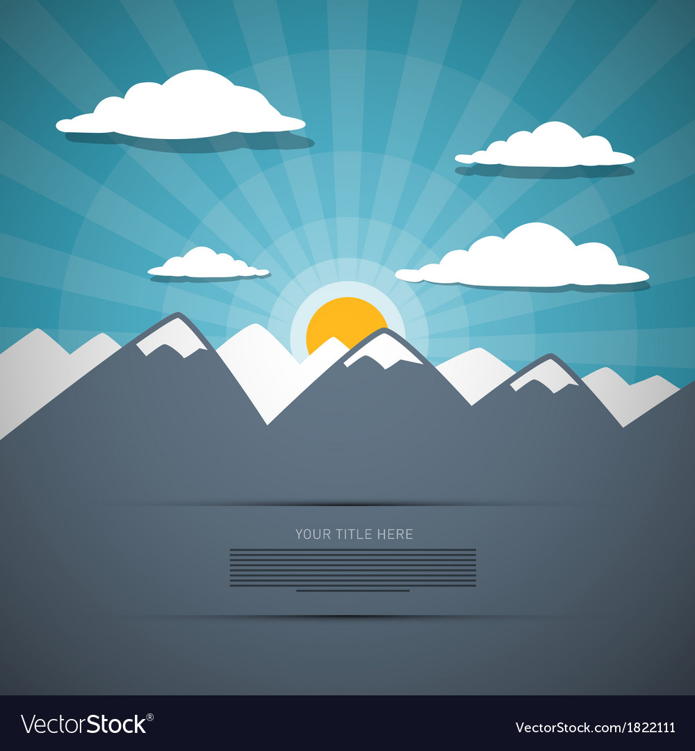 Mountain abstract background vector
