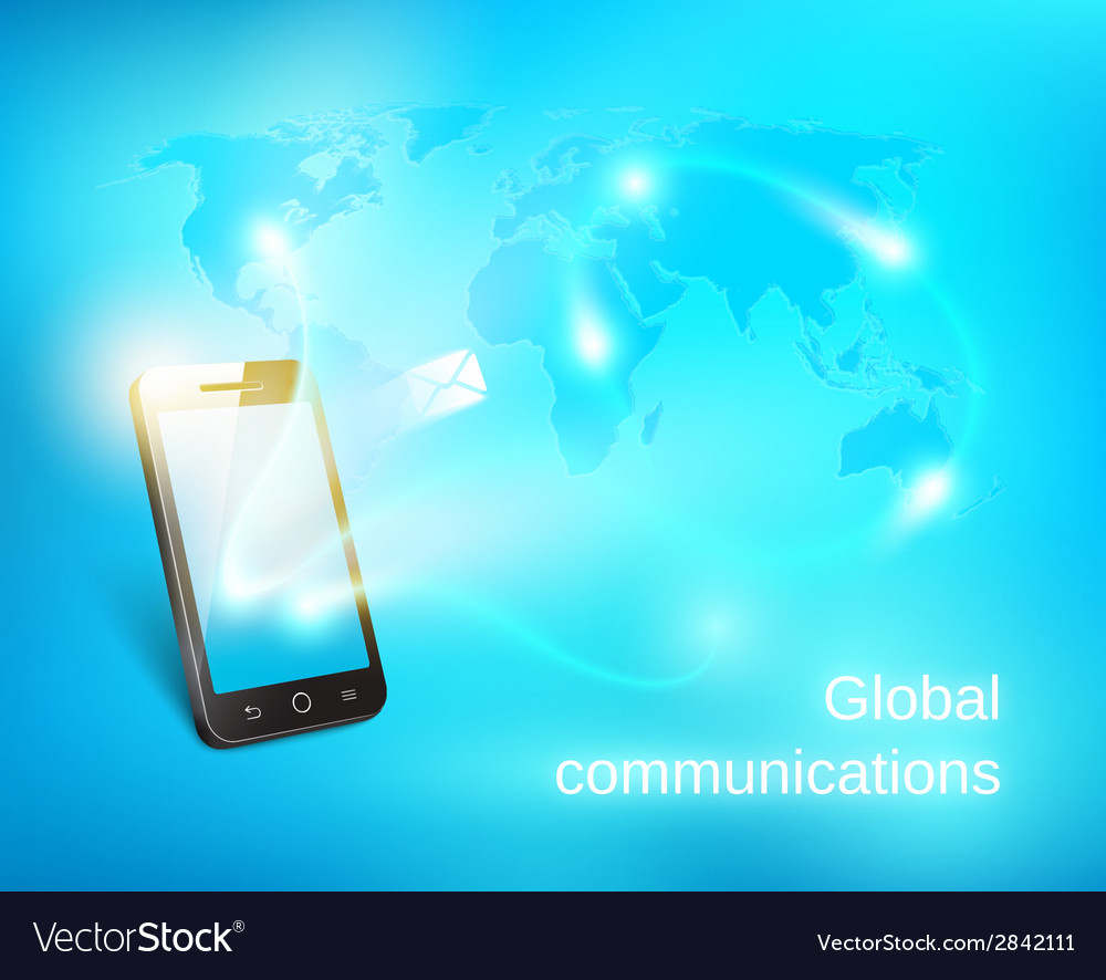 Smart phone sending out message vector