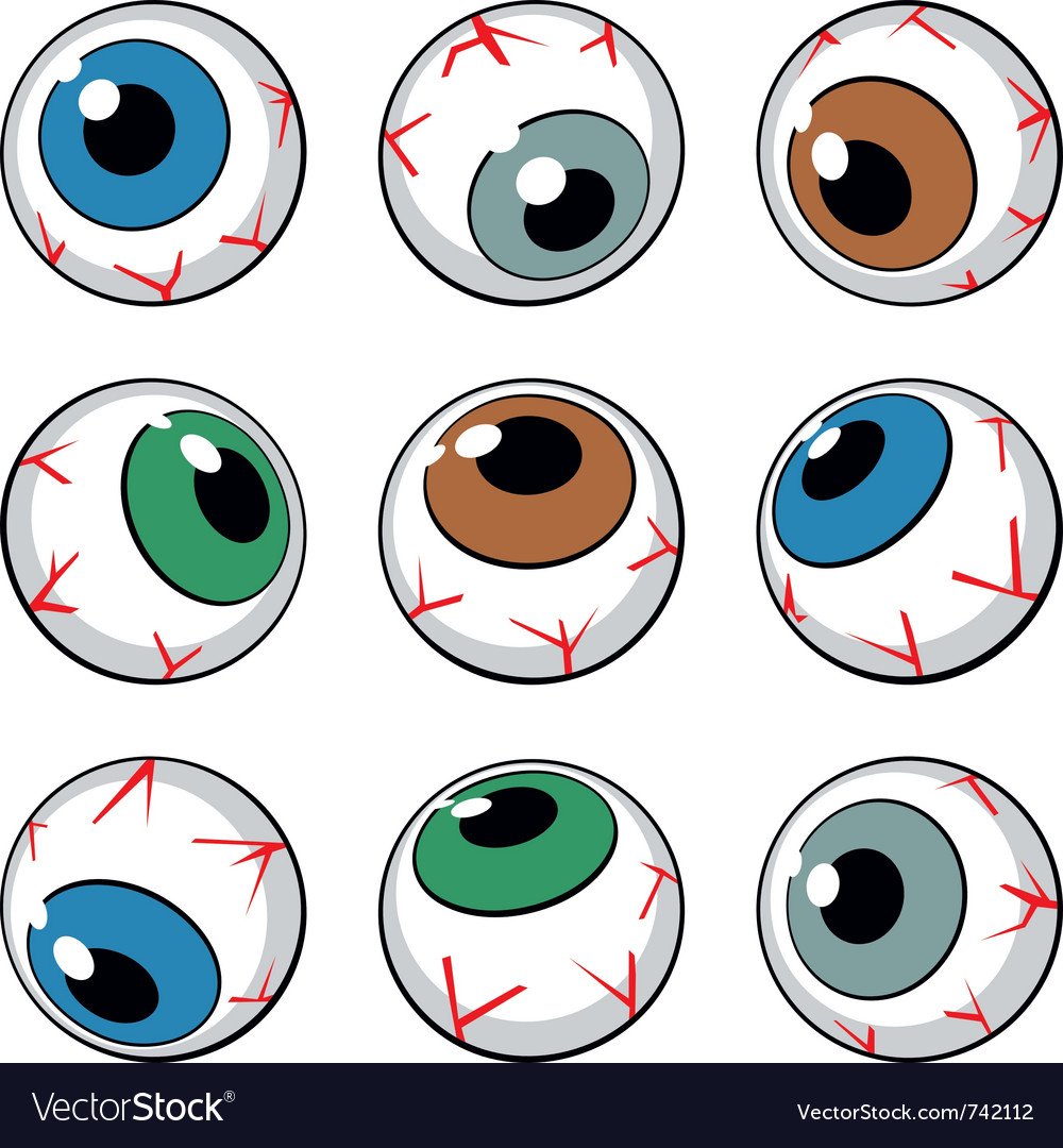 Set of eyeball symbols vector