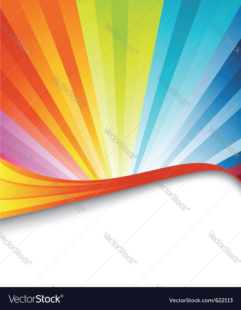 Rainbow birthday banner vector