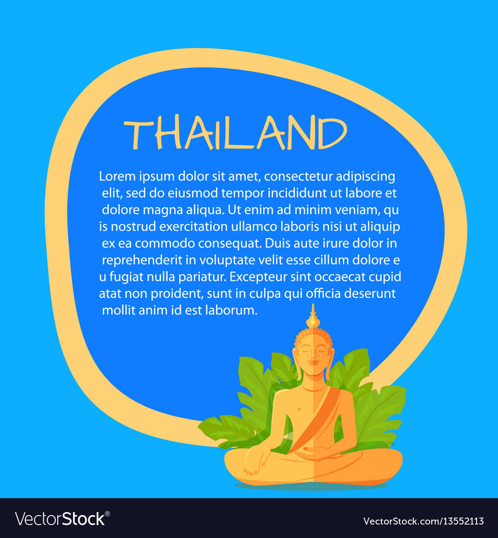 Thailand touristic banner with sample text vector