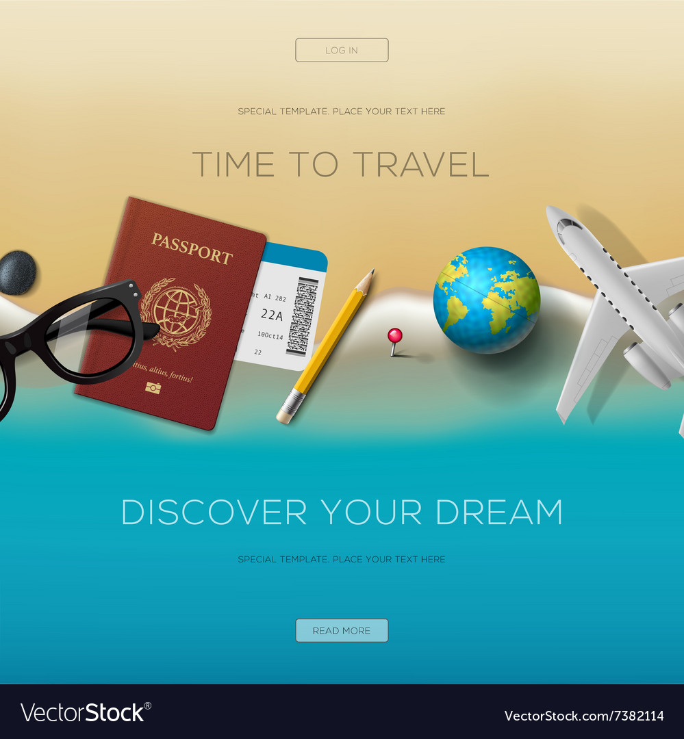 Colourful travel banner set for your business vector