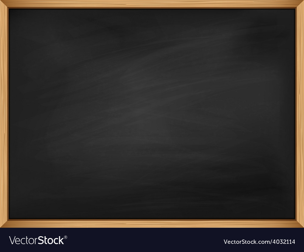 Empty blackboard with wooden frame template vector