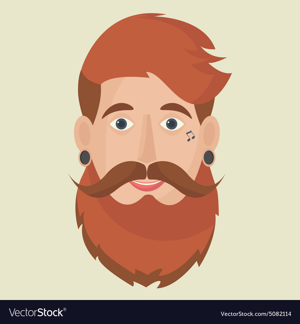Hipster freak icon vector