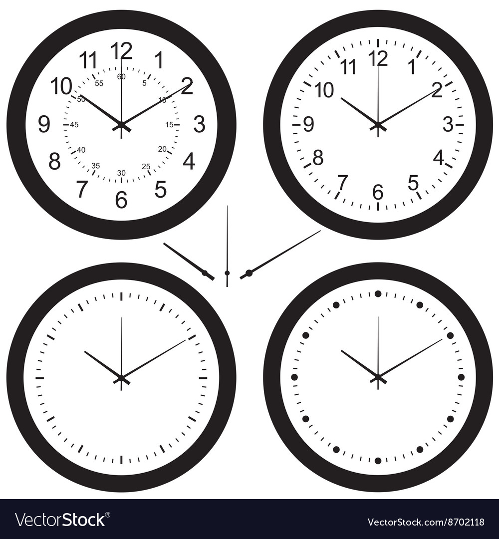 Wall clock set vector