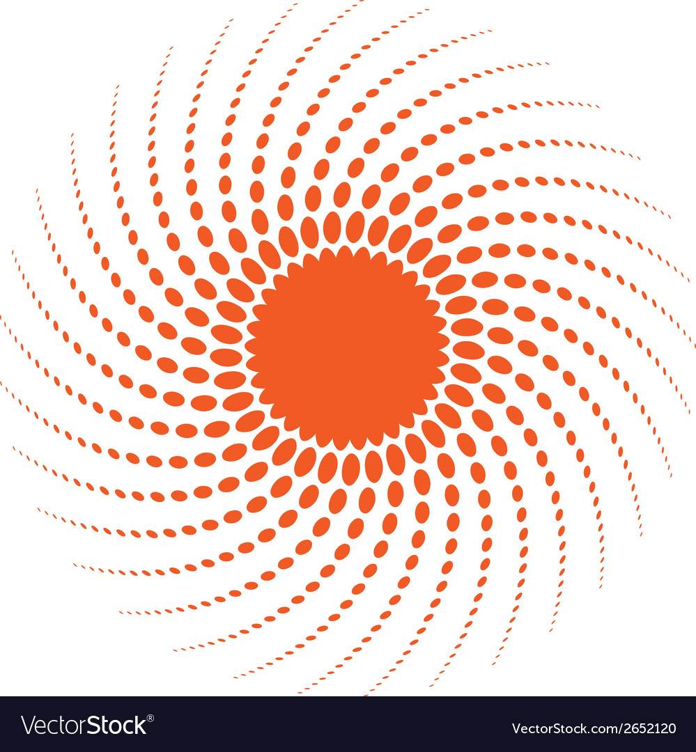 Abstract halftone sun design element vector