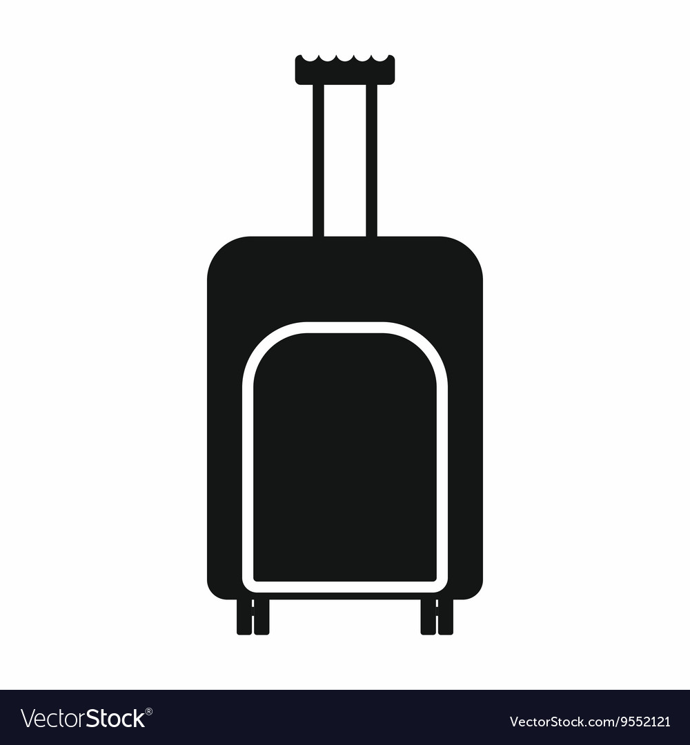 Travel suitcase icon simple style vector