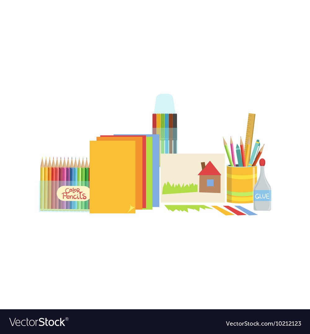 Craft class set of objects vector