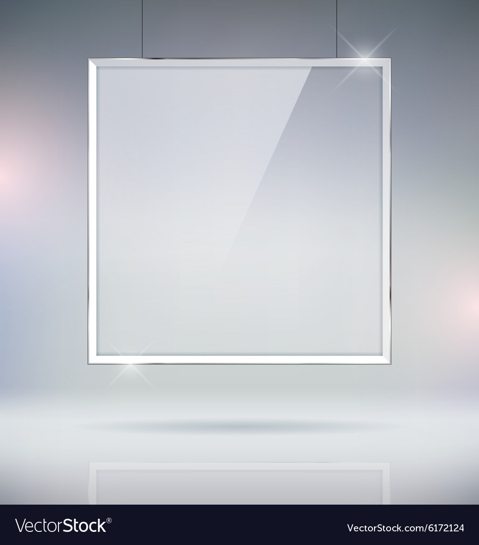 Glass window picture frame vector