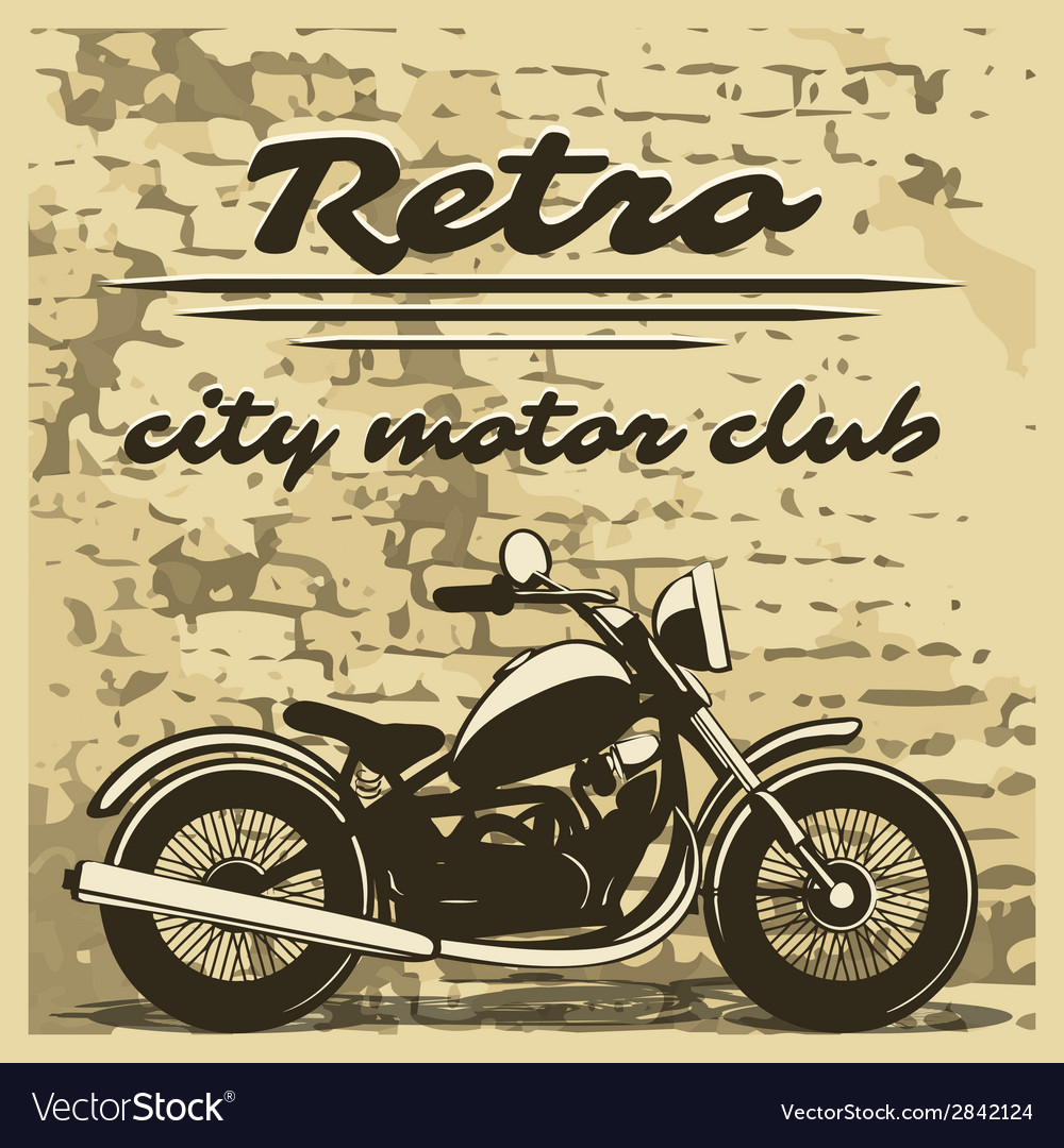Motorcycle design on distressed background vector
