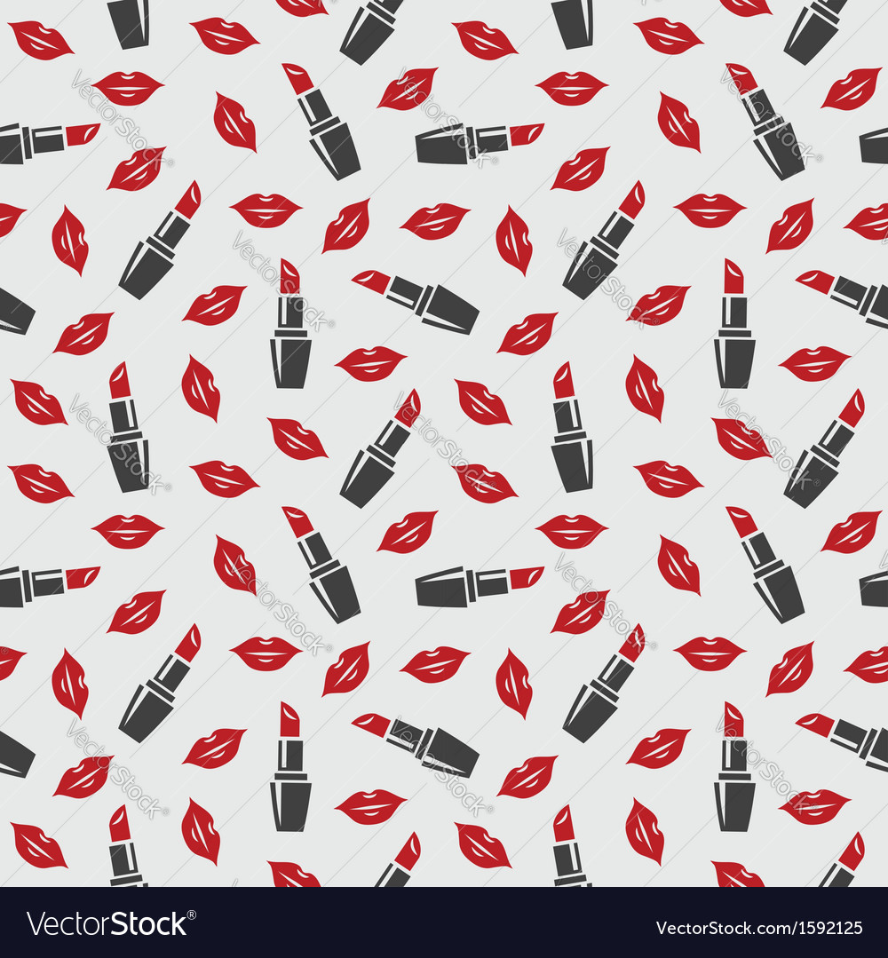 Lips and lipstick vector