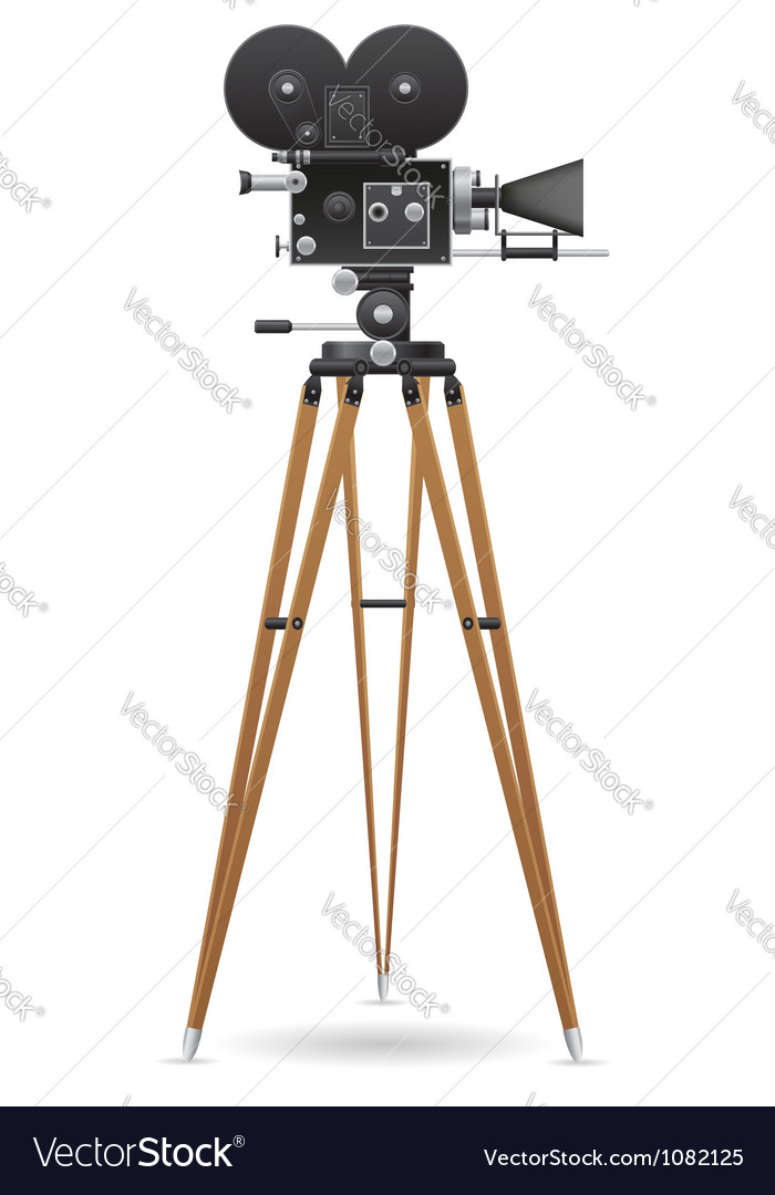Old movie camera 02 vector