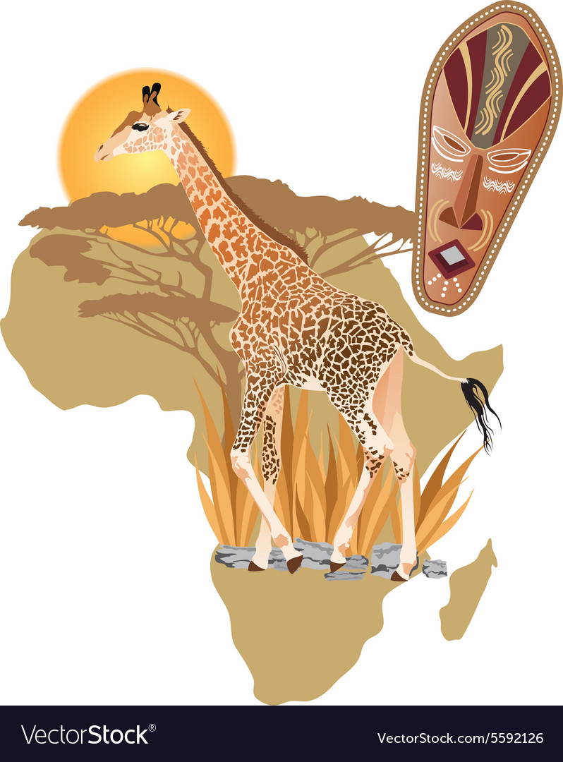 Africa wildlife vector