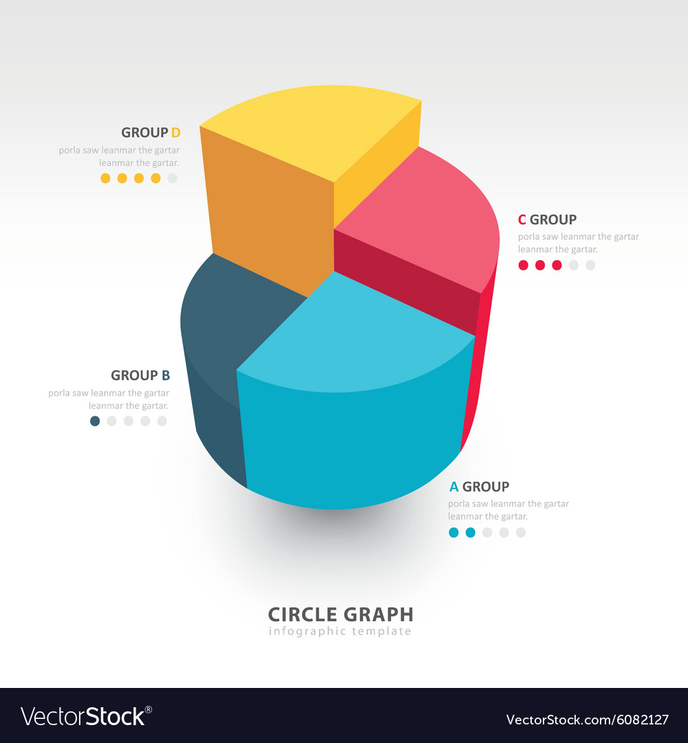 Business infographics circle graph vector