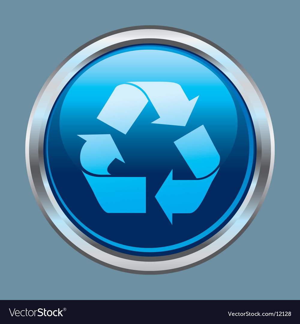 Recycle button icon vector