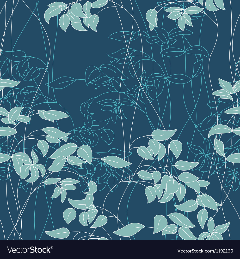 Foliage pattern vector