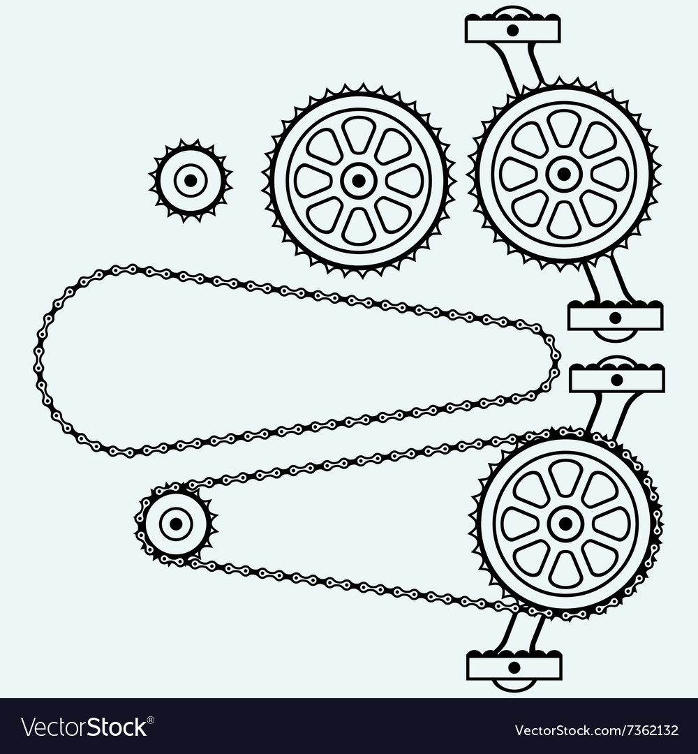 Set chain gears vector