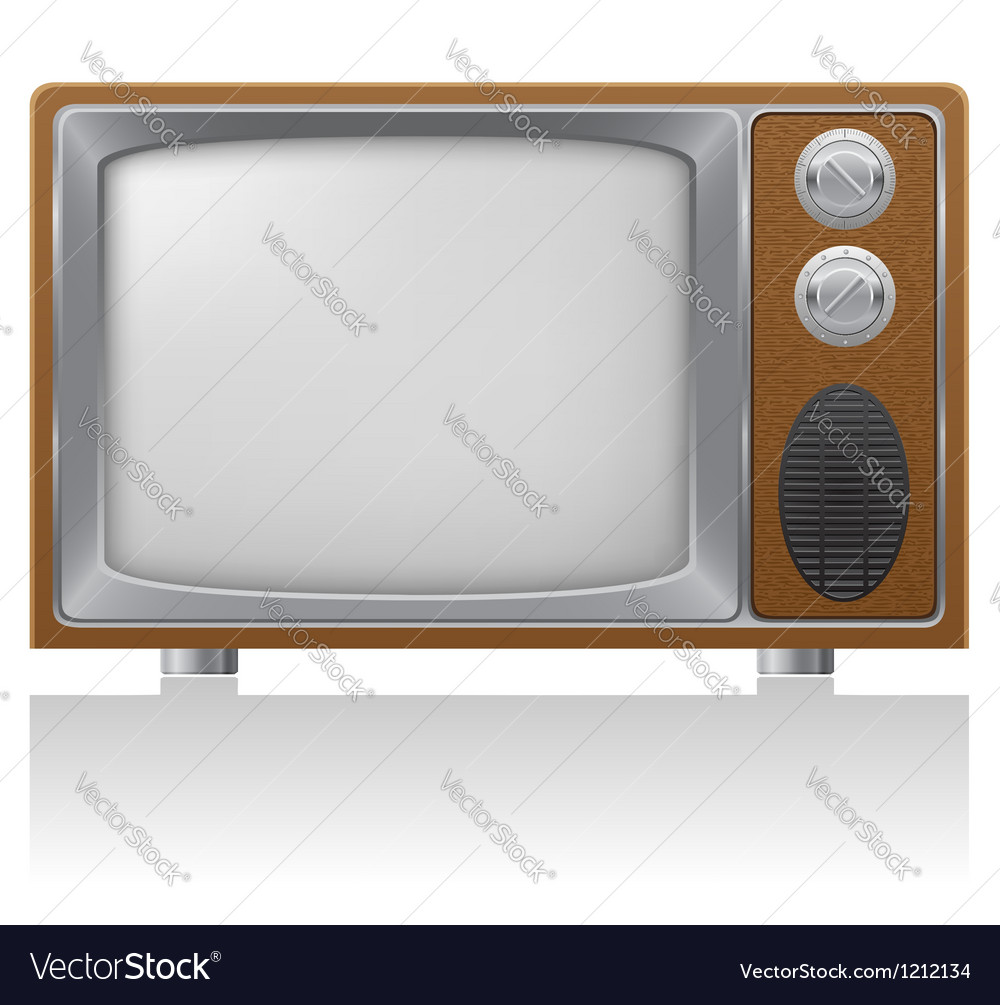 Old tv 01 vector