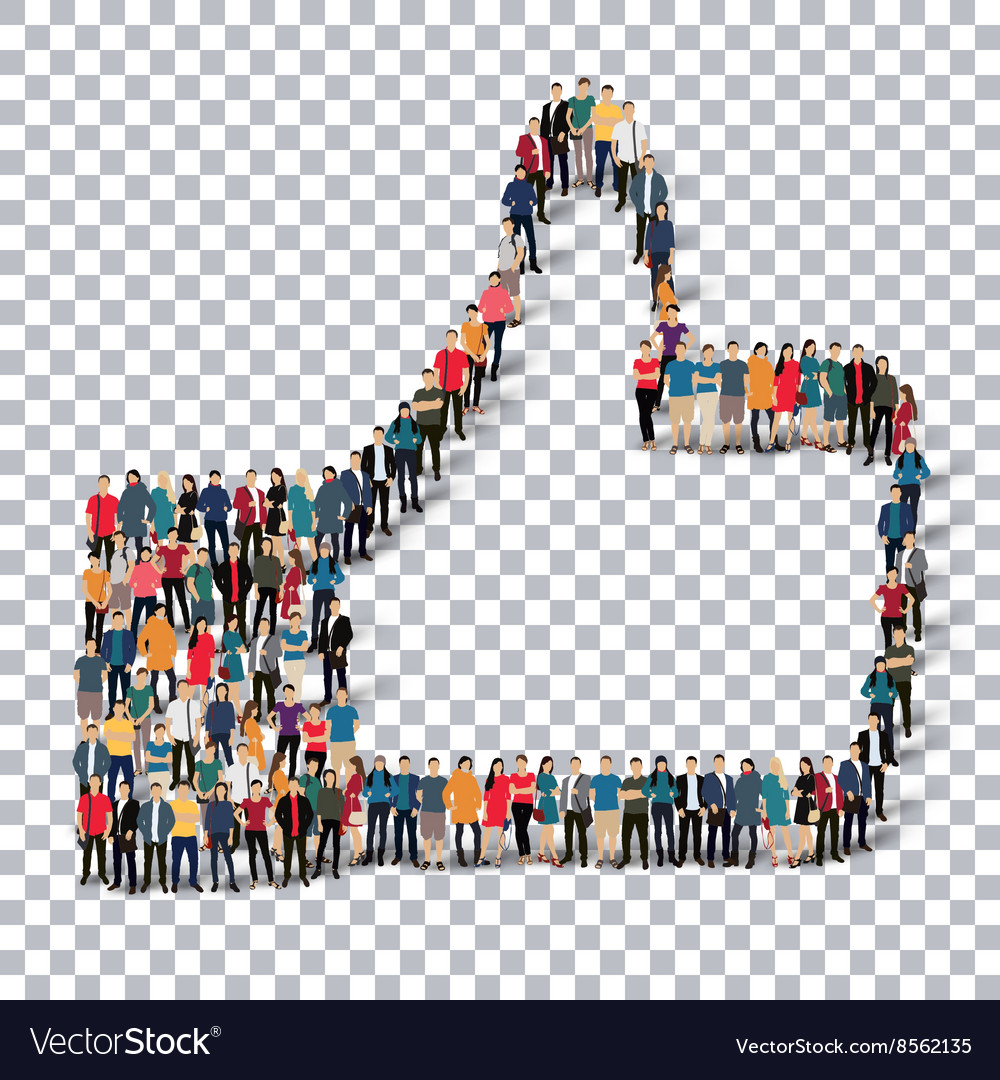 Like people sign 3d vector