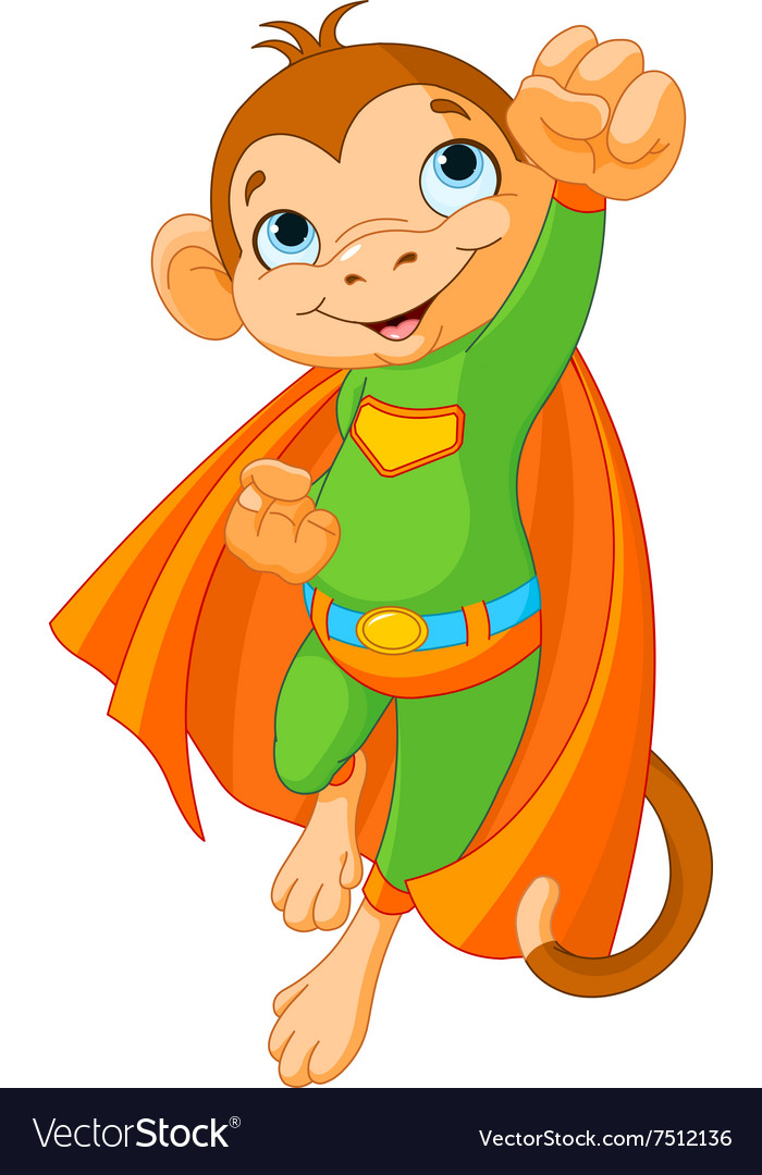 Super monkey vector
