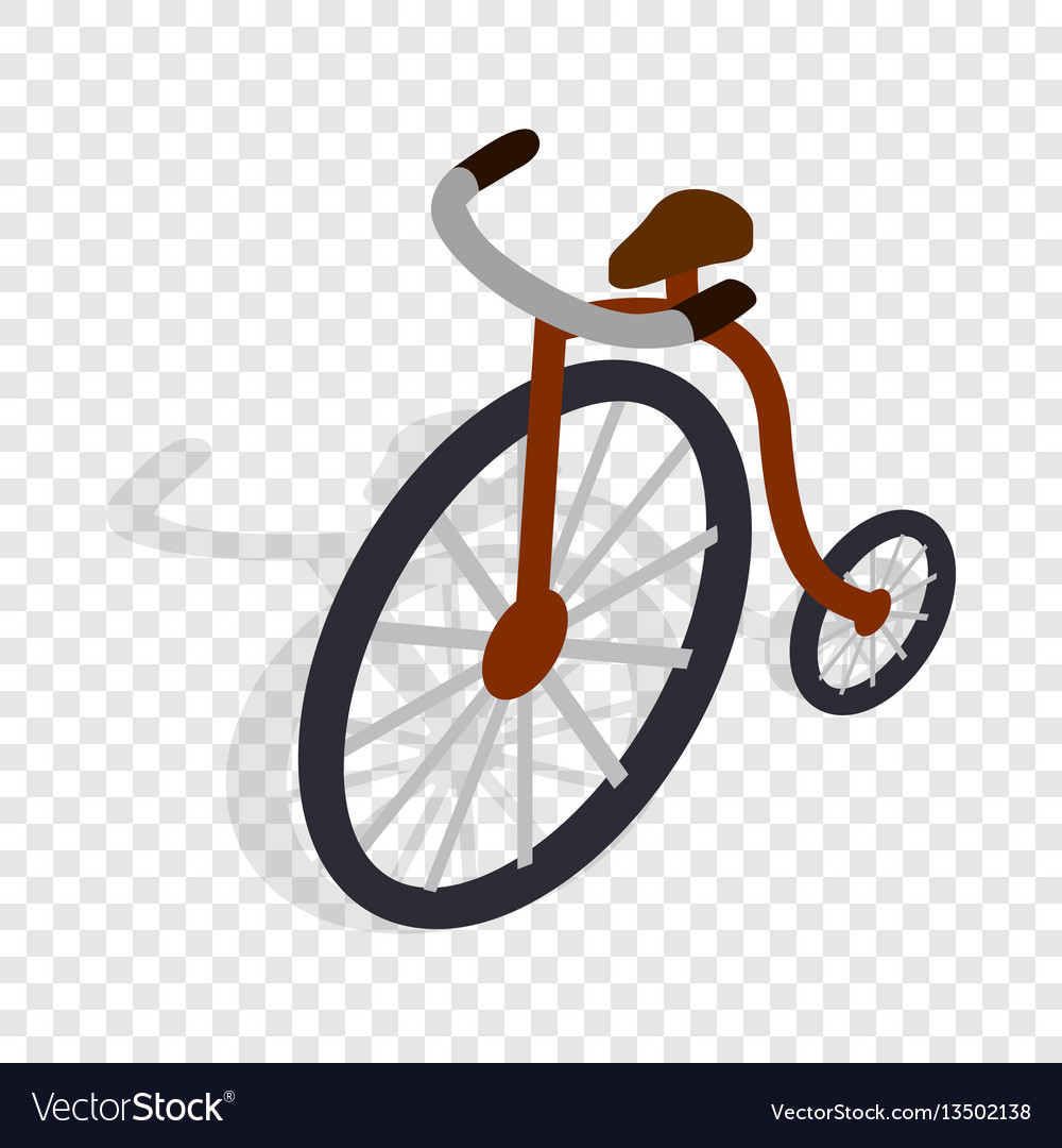 Highwheel bike isometric icon vector